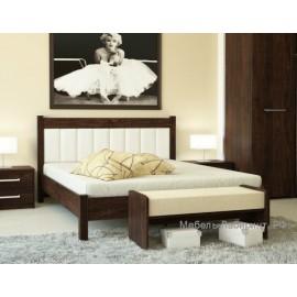 Кровать 2-сп. арт.9.14.7 (1600х2000) ЛДСП старый дуб/кожзам белый 1654х2054хh943мм