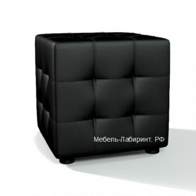 Пуфик арт.9.7 кож/зам черный  400х400хh400мм