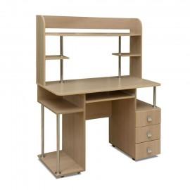 Стол компьютерный арт.1.17 ЛДСП венге;дуб беленый NEV 1150х570хh1430мм