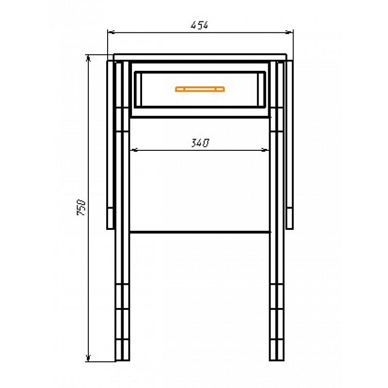 Стол обеденный арт.1.20 ЛДСП  ясень шимо светлый, дуб беленый NEV 455/1240х570хh750мм
