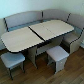 Кухонный угол арт.1.24 ЛДСП дуб беленый NEV/к.з. серый 1010х1460хh824мм с раскладным столом