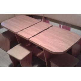 Стол обеденный арт.1.32.1 ЛДСП ольха 1054/1300х574хh720мм раскладной