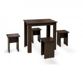 Обеденная группа арт.1.44 ЛДСП венге 800х574хh750мм (стол+4 табурета)
