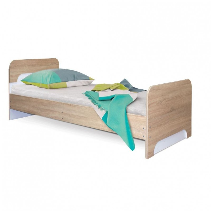 Кровать 1-сп. арт.1.64.8 (800х1900) ЛДСП белый лед/дуб сонома 843х1934хh764мм