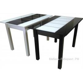 Стол обеденный арт.14.1 стекло/ЛДСП 1100х700хh750мм  ножки квадратные массив