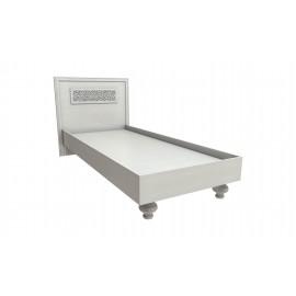 Кровать 1-сп. арт.2.37.9 (800х2000) ЛДСП дуб беленый 936х1000х2038мм ортопедическое основание