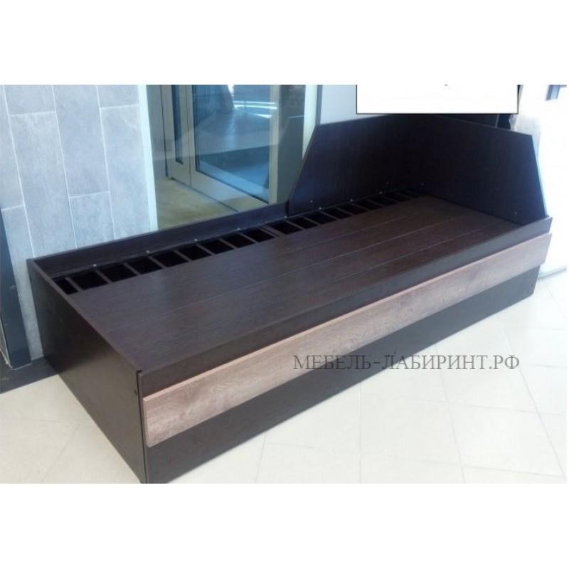 Кровать-трансформер арт.2.46 (800х2000) ЛДСП венге цаво/дуб сакраменто Размер  (ШxВxГ): в сложенном виде: 850x730x2032 мм в разложенном виде: 1620x730*2032 мм