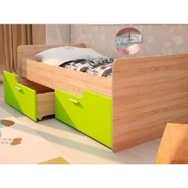 Кровать 1-сп. арт.2.56 (800х1600) МДФ лайм/ЛДСП дуб сонома 1645х900х600мм без ограничителя