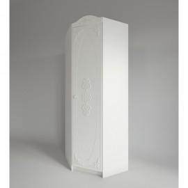 Шкаф угловой арт.22.40.1 МДФ белое дерево/ЛДСП белый 765х765хh2150мм