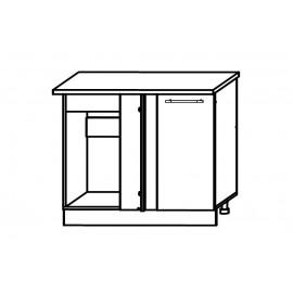 Схема арт.22.36 Шкаф нижний под мойку угловой 1050х600хh850мм универсальный