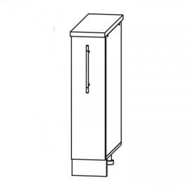 Схема арт.22.36 Шкаф нижний 200х590хh850мм бутылочница