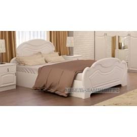 Кровать 2-сп. арт.24.5.6 (1600х2000) МДФ белый глянец/ЛДСП белый