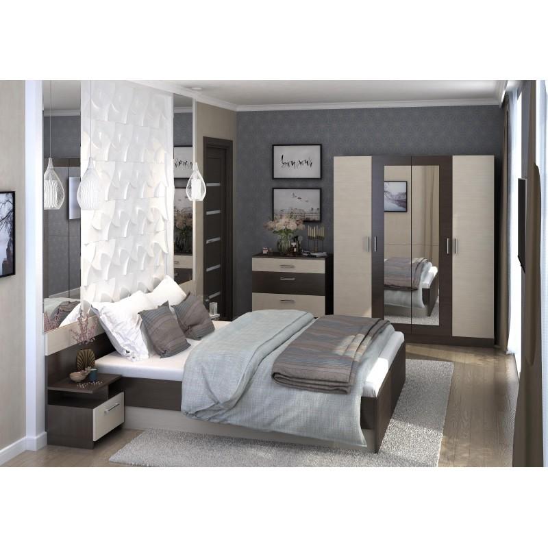 Модульная спальня арт.27.5 ЛДСП дуб белфорд/венге 2400х2050хh705 мм