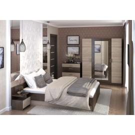 Модульная спальня арт.27.5 ЛДСП дуб сонома/кантбери 2400х2050хh705 мм