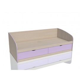 Кровать 1-сп. арт.3.26.27 (900х2000) ЛДСП ирис/дуб девонш. 2050х950хh700 мм.