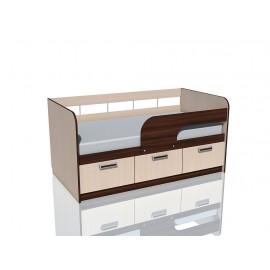 Кровать 1-сп. арт.3.26.3 (800х2000) ЛДСП тортона/дуб девонш. 2040х866хh800 мм.