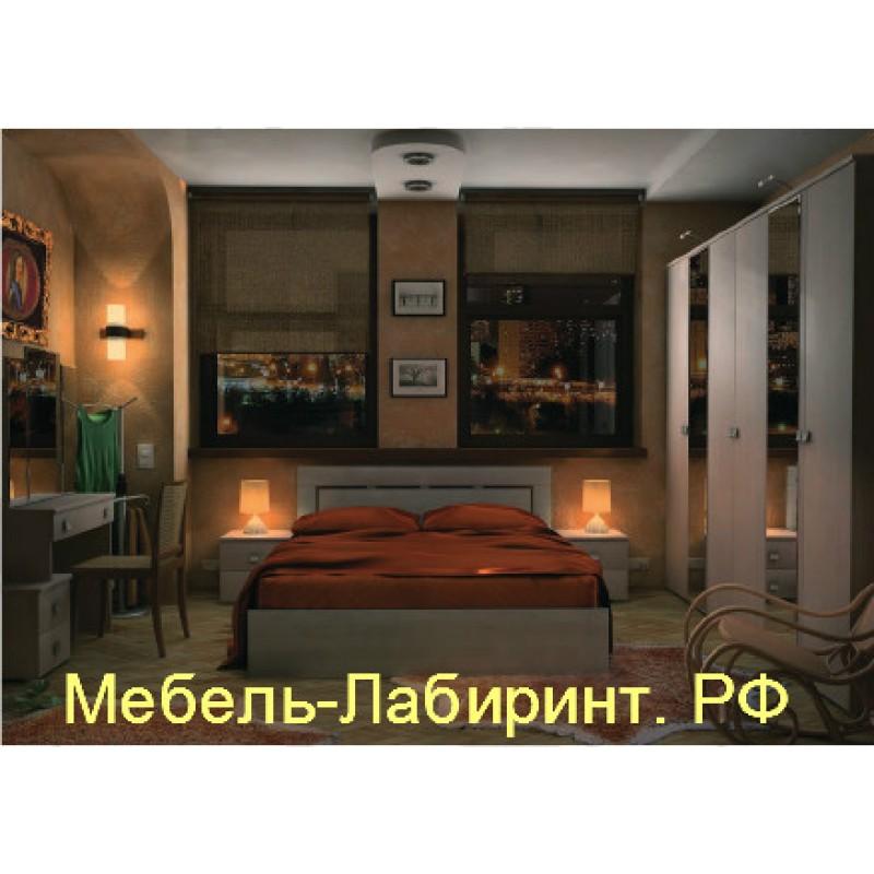 Модульная спальня арт.1.3 ЛДСП Дуб беленый NEV