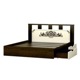 Кровать 2-сп. арт.4.243.4 (1600х2000) ЛДСП дуб белфорд/венге 1780х2030хh870мм. с ящиками