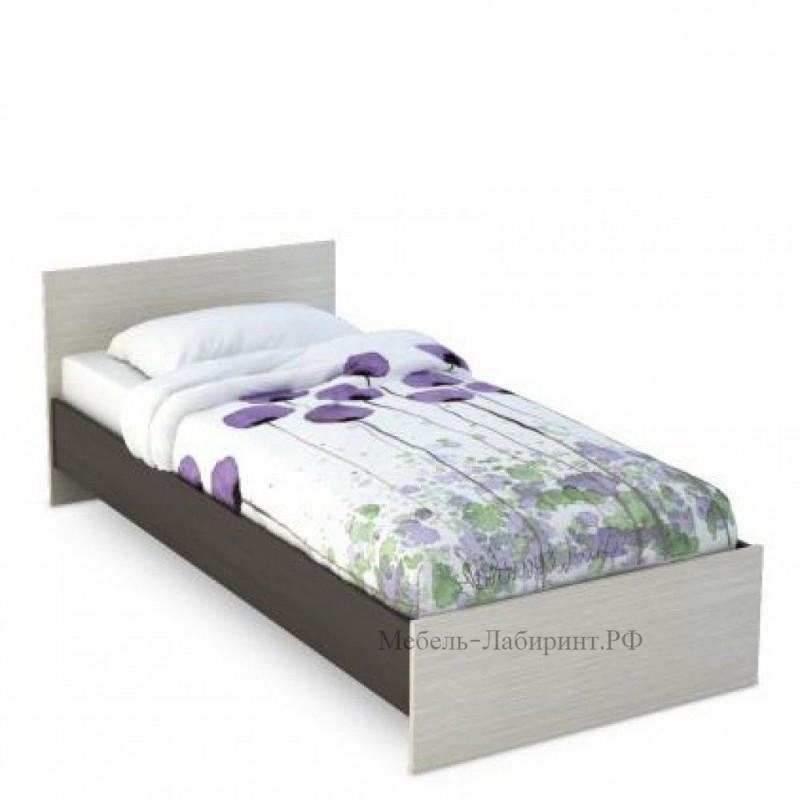 Кровать 1-сп. арт.4.43.6 (900х2000) ЛДСП дуб беленый/венге 952хh700х2032мм.