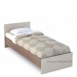 Кровать 1-сп. арт.4.43.6 (900х2000) ЛДСП ясень шимо светлый/темный 852хh700х2032мм.