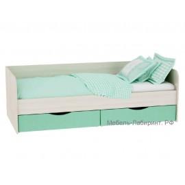 Кровать 1-сп. арт.4.45.10 МДФ/ЛДСП дуб млечный 950х2032х640мм