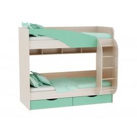 Кровать 2-х. ярусн. арт.4.45.11 МДФ/ЛДСП дуб млечный 950х2032х1750мм