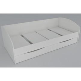 Кровать 1-сп. арт.7.7 (900х2000) ЛДСП сосна карелия 2032х950хh650мм (софа  с ящиками)