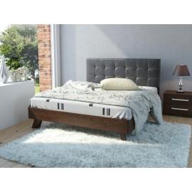 Кровать 2-сп. арт.9.14.5 (1600х2000) ЛДСП старый дуб/кожзам черный 2090х1672хh1050мм
