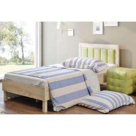 Кровать 1-сп. арт.9.25.5.2 элементы МДФ/ЛДСП ель 3D кож/зам жвкалипт 1977х972хh800мм